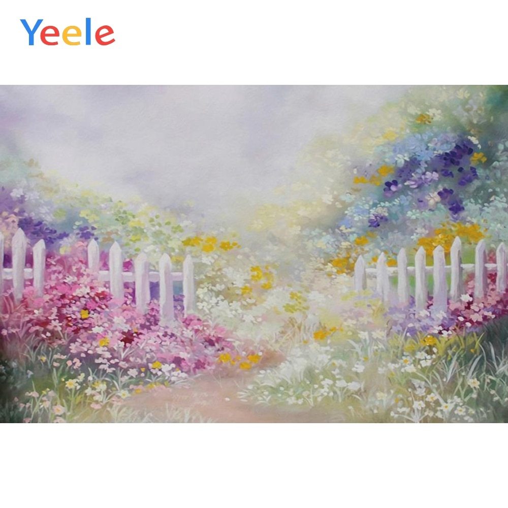 Yeele Vinyl Photography Backdrops Flowers Spring Bokeh Photographic Background Baby Shower Decoration Photocall Background Props allenjoy photography backdrops background stage dancers pink green bokeh watercolor baby shower newborn props spring princess