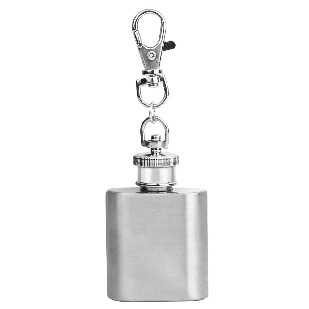 Портативный 1 унций фляга для хип-хопа алкогольный фляга Мини нержавеющая сталь с брелком мини Алкогольная фляга аксессуары L4