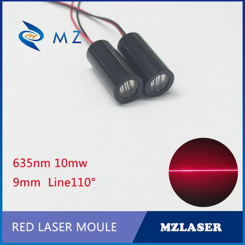 Linha de laser módulo 635nm10mw linha laser difusão ângulo 110 graus módulo laser grau industrial