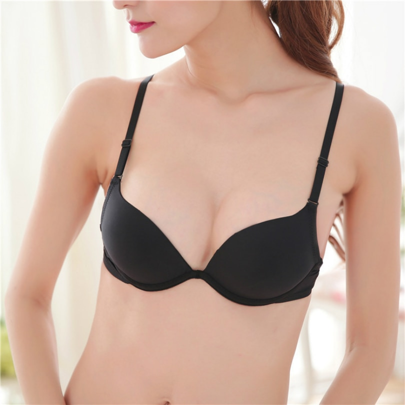 Women Push Up Bra For Small Breast Women Double Push Up Bras Size Push Up Bra Sexy Push Up Bra Silicone Underwear Gather