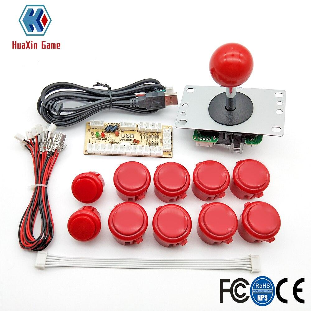 Jogo de arcada peças diy kit para pc e raspberry pi 1/2/3 com torta retro 5pin joystick 8x30mm e 2x24mm botões mame kits parte