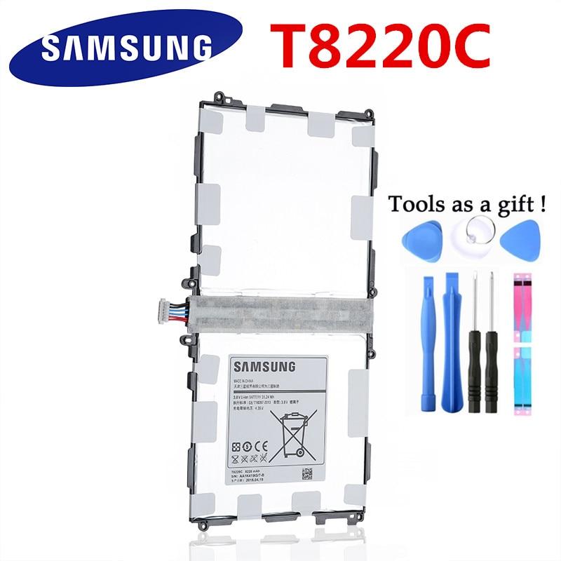 Original T8220E T8220C Battery For Samsung GALAXY Note 10.1 Tab Pro P600 P601 P605 P607 SM-T520 SM-T525 Tablet Batteries 8400mAh
