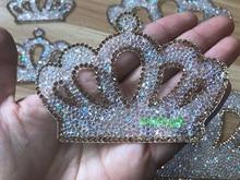 1 pieza de parches de diamantes de imitación con motivo de diamantes de imitación para planchar en la corona, aplique de cristal para ropa de recién nacido