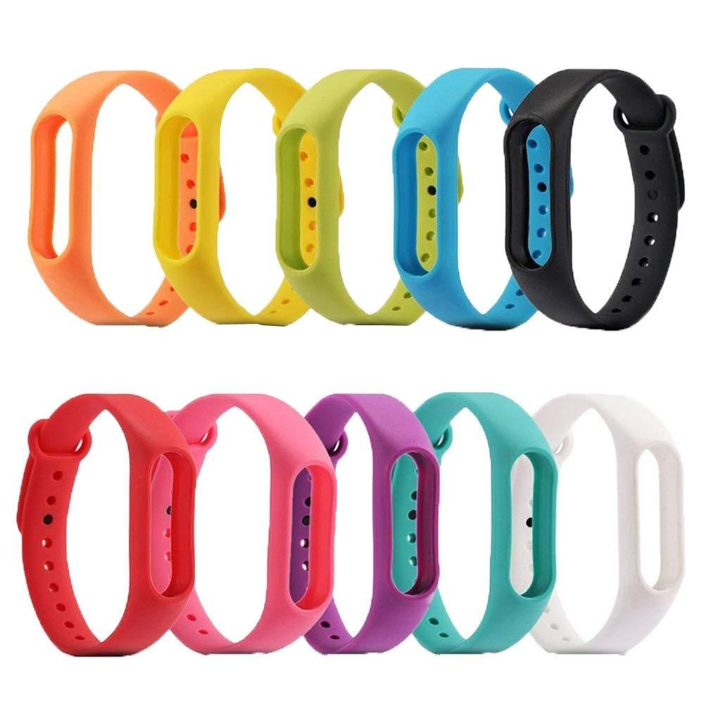 1 Uds correa de TPU de Color para Xiaomi Mi band 2 Correa de repuesto M2 pulsera de silicona suave pulsera deportiva de moda para Mi Band 2