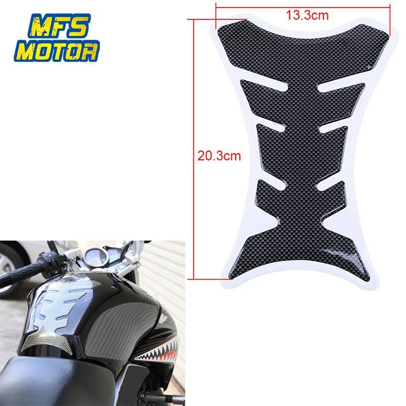 Freeshipping fishbone fibra de carbono tanque de gás combustível almofada acelerador capa adesivo decalque do carro-estilo universal peças da motocicleta