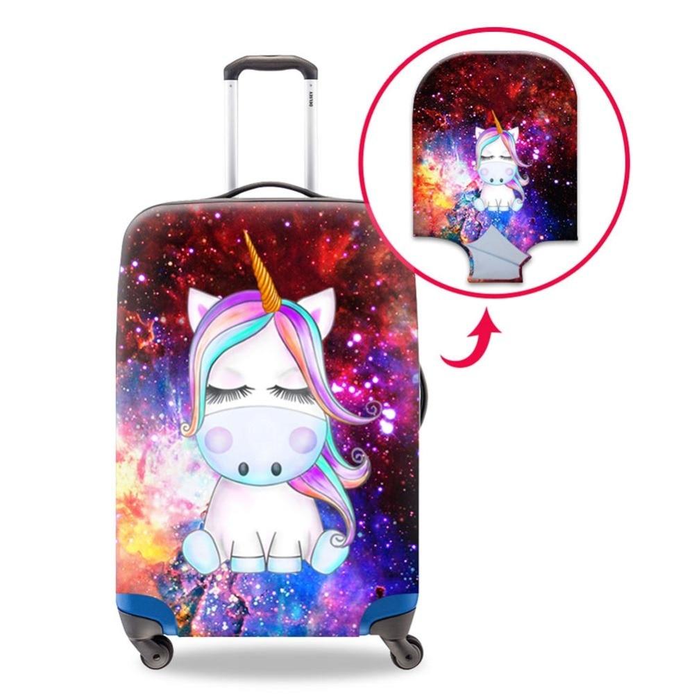 Dispalang gran calidad y impresión 3D unicornio foto es increíble claridad resistente a los arañazos cubierta de equipaje señora necesidad accesorios