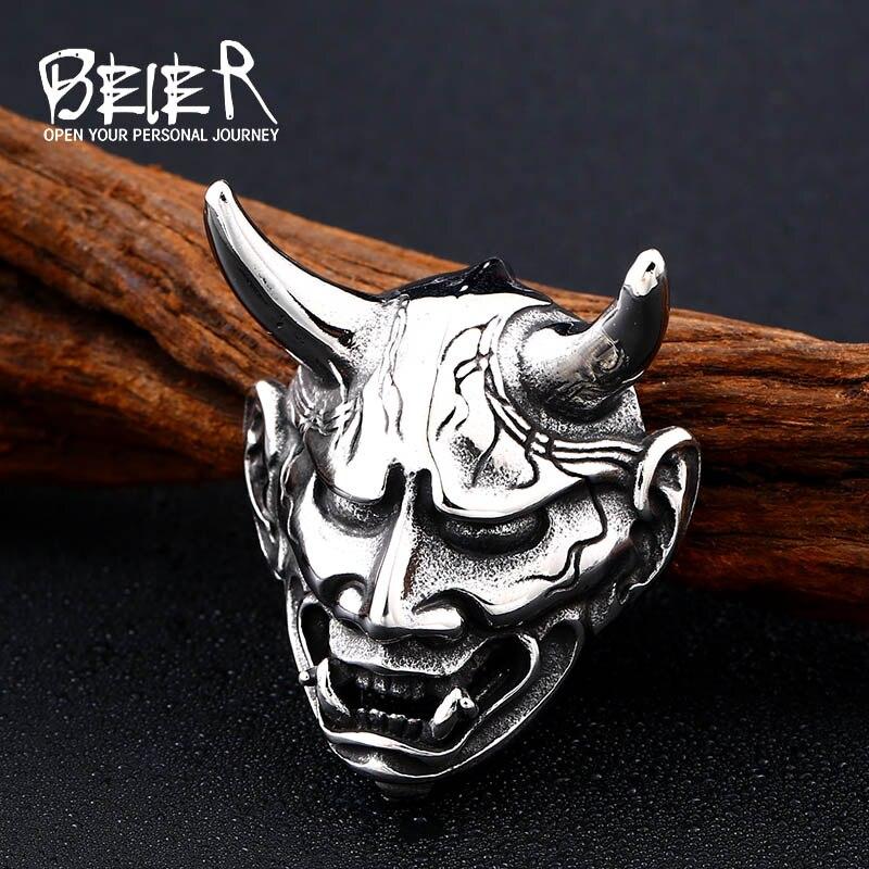 Beier 316L, colgante de diablo Vintage de acero inoxidable, collar con colgante de demonio, colgante para hombre, joyería de moda para regalo, LLBP8-382P