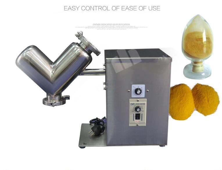 VH-2 Small mixer, V-type laboratory experimental mixer, Stainless steel raw material mixer dry powder mixing machine enlarge