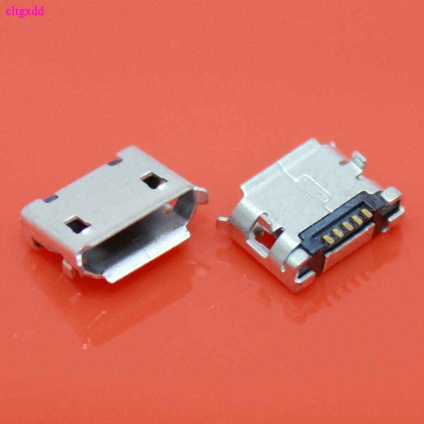 20 pces micro usb mini conector 5pin 6.4mm agulha curta 5p dip2 porta de dados porto de carregamento mini conector usb para a tomada de extremidade móvel