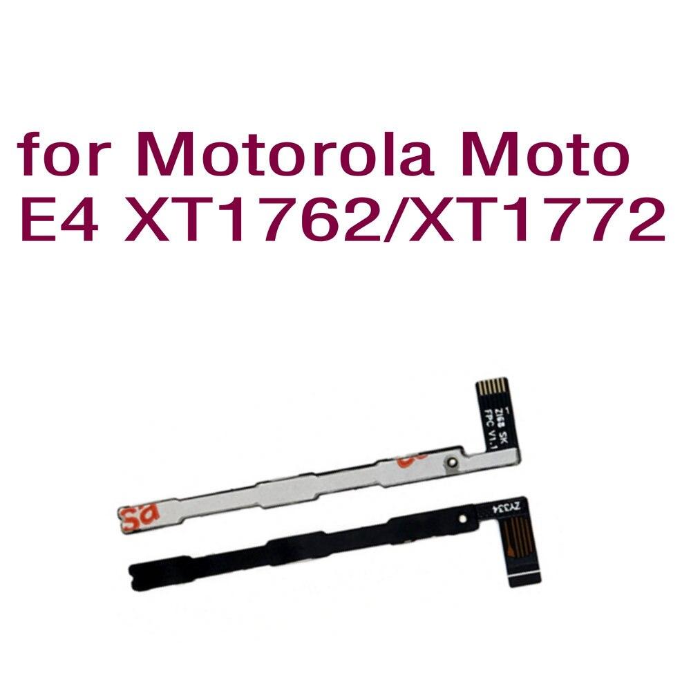 5 unids/lote marca de botón de volumen cable Flex de alta calidad de piezas de repuesto para Motorola Moto E4 XT1762 XT1772 celular teléfono