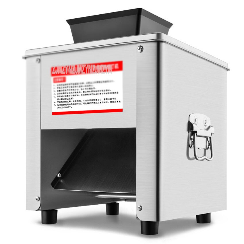 Cortadora de carne 220V YR, picadora de carne automática, cortadora eléctrica de verduras, máquina de amasar en dados, rebanadora de acero inoxidable comercial