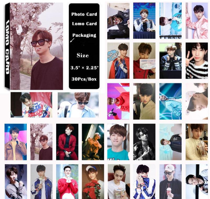 YANZIXG KPOP GOT7 Album  JB FLY Self Made Paper Lomo Card Photo Card Poster HD Photocard