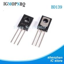 100pcs libera il trasporto 50PCS BD139 + 50PCS BD140 D139 + D140 TO-126 NPN 1.5A 80V NPN Epitassiale Triodo Transistor nuovo originale