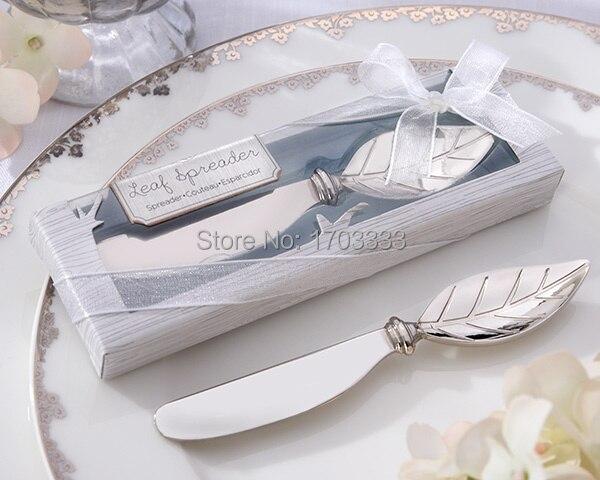 """# GZ46 DHL Envío Gratis """"extender el amor"""" hoja de arce de acero inoxidable cuchillo de mantequilla recuerdos de boda recuerdos de fiesta 200 unids/lote"""