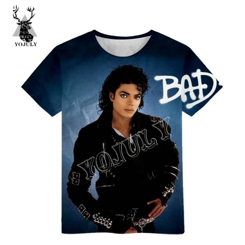 YOJULY Summer Child Short sleeve T-shirt Boy/Girl Clothing Michael Jackson 3D Printed t shirt Baby Fashion Casual T shirts M2