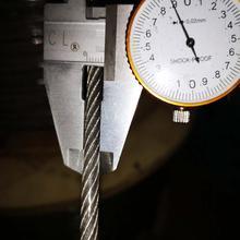 (PVC) câble dacier inoxydable de 5mm, 10 M, 7X19 304 avec le revêtement de PVC