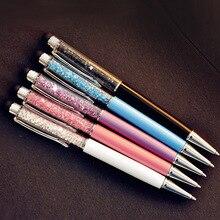 5 pcs/Lot Crystal pen Diamond ballpoint pens Stationery ballpen 2 in 1 crystal stylus pen touch pen for IPhone IPad etc