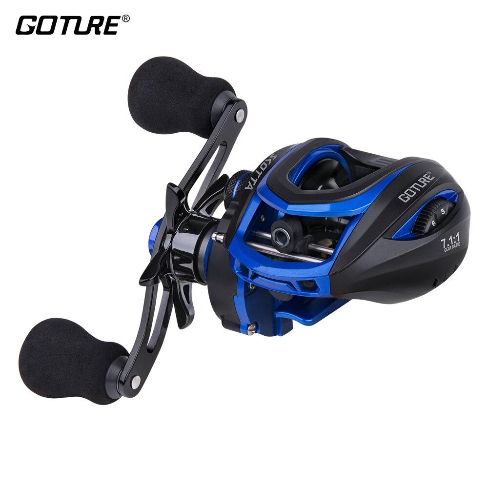 Goture SCOTTA Bait Casting Fishing Reel Magnetic Centrifugal Brake 8KG Max Drag 7.1:1 High Speed 8BB Sea Fishing Reels