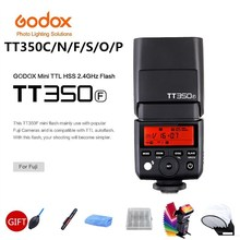 Godox TT350P TT350C TT350N TT350S TT350F TT350O Flash Ttl Hss Camera Flash Speedlite Voor Canon Nikon Sony Fuji Olympus Camera