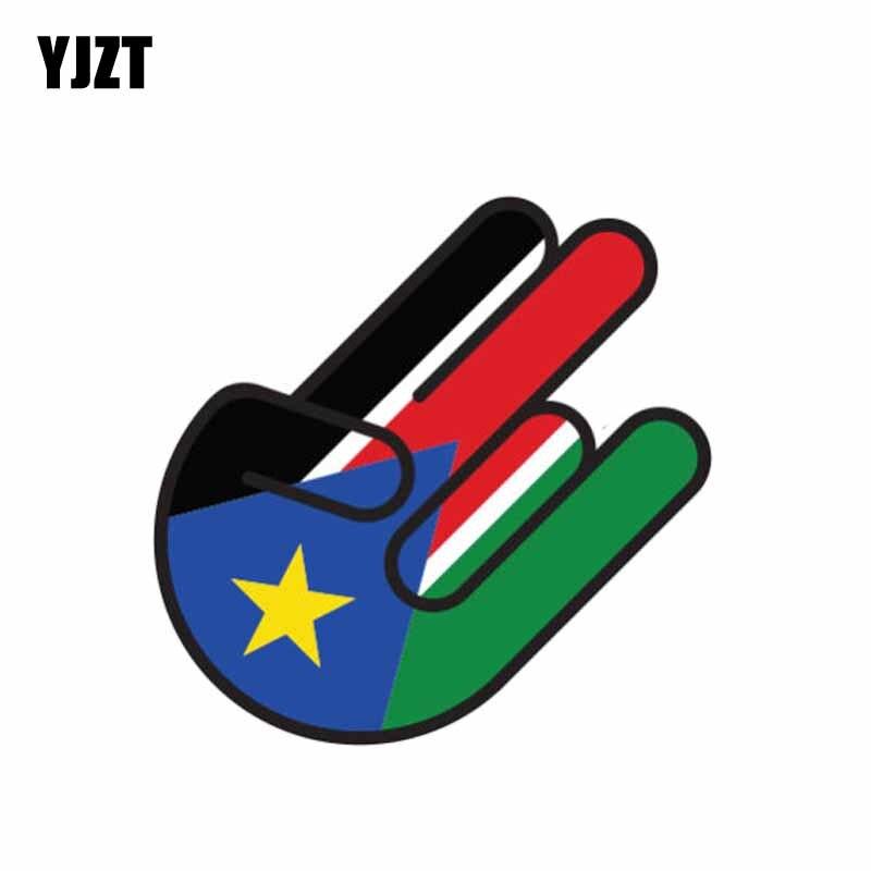 YJZT 10,5 CM * 16CM adhesivo creativo Sudan Bandera de choque de Corea del Sur pegatina de coche de motocicleta 6-1074