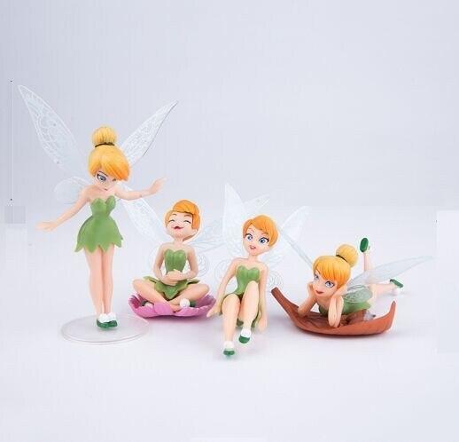 4 шт./лот, высокое качество, ПВХ, Динь-Динь, волшебная, очаровательная, Динь-Динь, фигурки, игрушка, кукла 8 см
