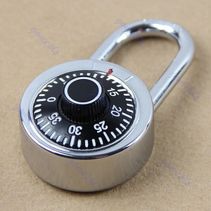 OOTDTY Chrome Plated Steel Construction With Hardened Steel Shackle Dial Combination Luggage Suitcase Locker Lock Padlock
