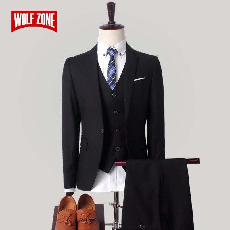 New Fashion Men Suit 3 Piece Autumn Winter Luxury Brand Design Wedding Mens Suits with Pants Business Casual Man Suits M-4XL