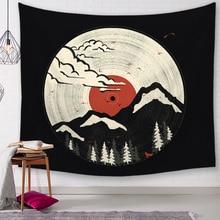 Tapisserie murale tenture de pique-nique   Tapis décoratifs japonais de montagne, tapisserie pour salle de bain extérieure, drap de décoration de maison, nappe