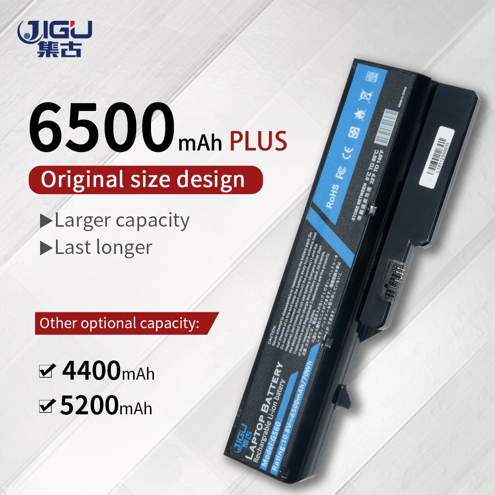 JIGU Laptop Battery For Lenovo B570 G460G G465 G465A G470 G475 G565 G570 G575 B570 G565 LO9S6Y02 L08S6Y21 KB3007 LO9L6Y02
