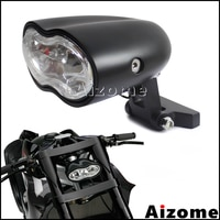 Motorcycle Custom Headlight H3 55W Headlamp Streetfighter Oval Headlight Double Twin Headlight Head Lamp For Harley Cafe Racer