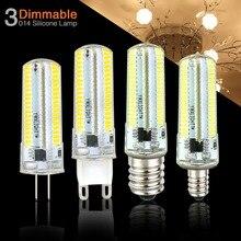 E14 lampe à LED G4 G9 G8 lumière à intensité variable E17 E11 E12 maison ampoule AC 220V 110V lustre 3014SMD 152leds bombillas led cristal décor