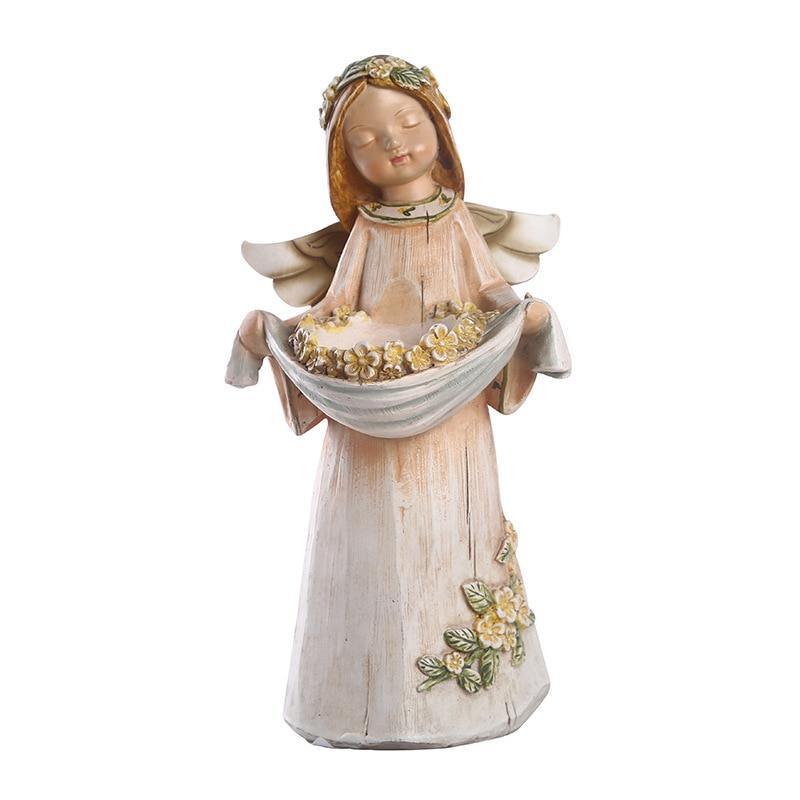 Candelabro con forma de Ángel creativo a la moda para decoración de fiestas en casa, candelabro de resina con forma de Ángel, soporte de almacenamiento para regalos de cumpleaños