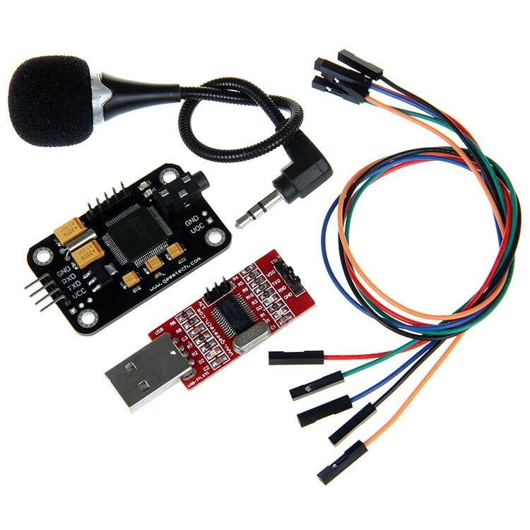 Módulo de reconocimiento de voz Geeetech y micrófono convertidor USB a RS232 TTL Dupont