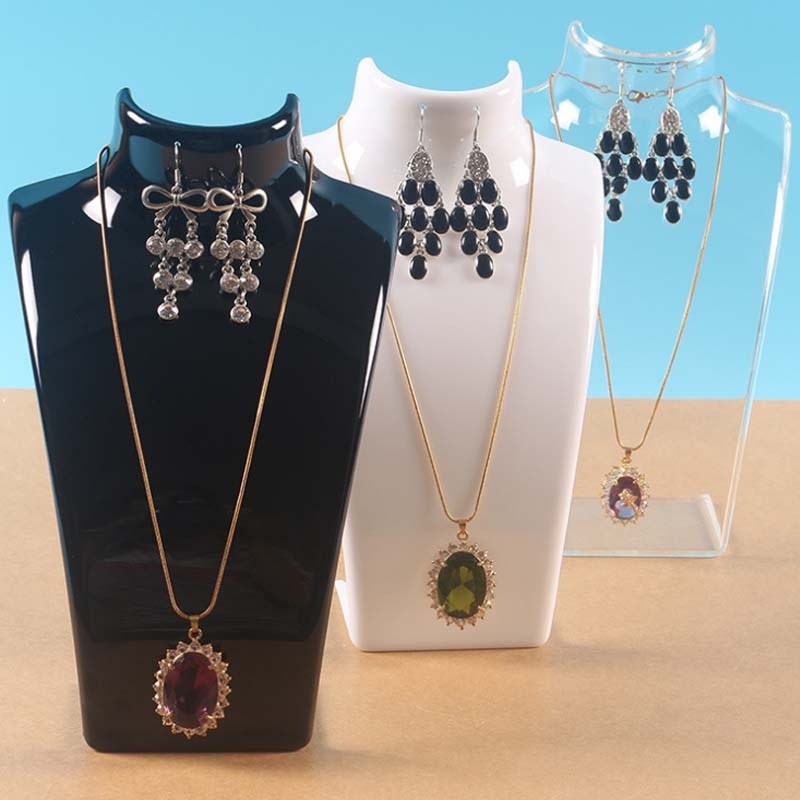 Mordoa Three Colors 20*13.5*7.5CM Mannequin Necklace Jewelry Pendant Display Stand Holder Show Decor