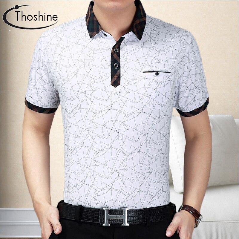 Marca Thoshine, camiseta Polo de hombre sólida de verano, polos estilo inglés, Camisa de manga corta con cuello vuelto, Tops de talla grande