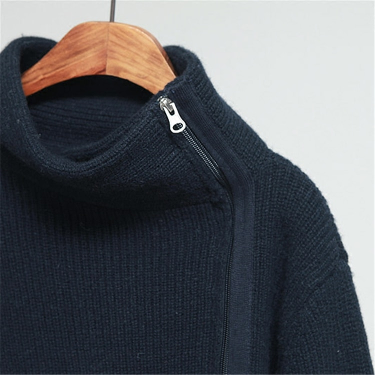 Jumper Poncho Hot Sale Full Women Sweaters And Cashmere Sweater New Female Sleeved Thickened Loose Knit Cardigan Jacket Zipper enlarge