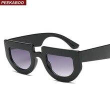 Peekaboo weiß halb runde sonnenbrille frauen dicken rahmen 2019 schwarz retro vintage sonnenbrille für frauen männer unisex uv400