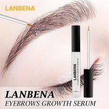 LANBENA traitements de croissance des cils rapide croissance des cheveux puissant maquillage sérum de croissance des sourcils plus complet plus épais nourrit
