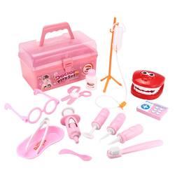 Brinquedos para crianças menina menino crianças fingir jogar plástico médico brinquedos kit médico dentista medicina caixa conjuntos saco de pano embalagem jogos
