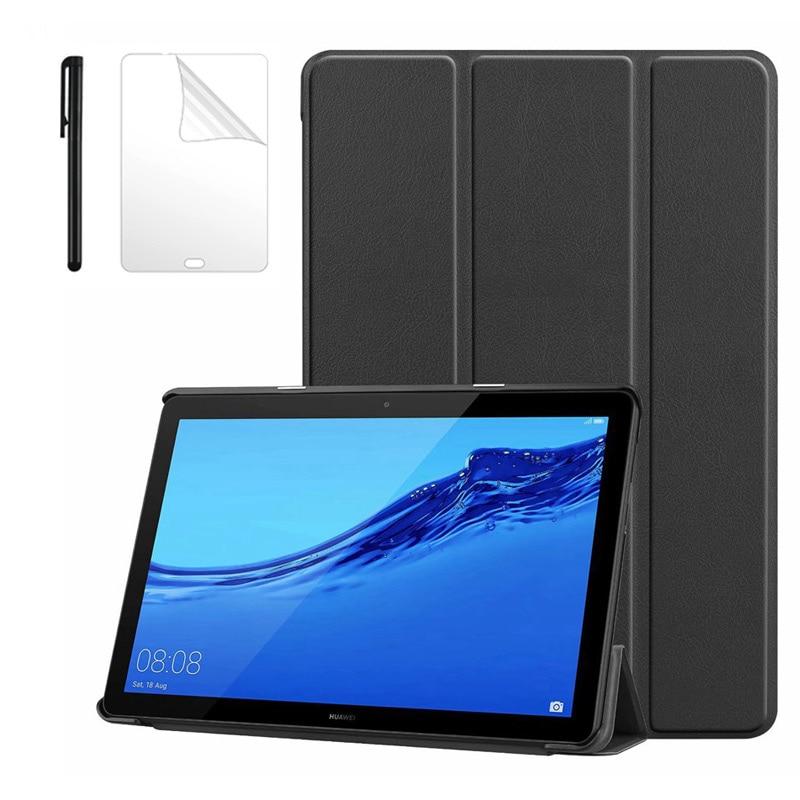 """Funda Ultra delgada para Huawei Mediapad T5 10 AGS2-W09/L09/L03/W19 10,1 """", funda para Huawei Mediapad T5 10, funda para tableta + bolígrafo"""