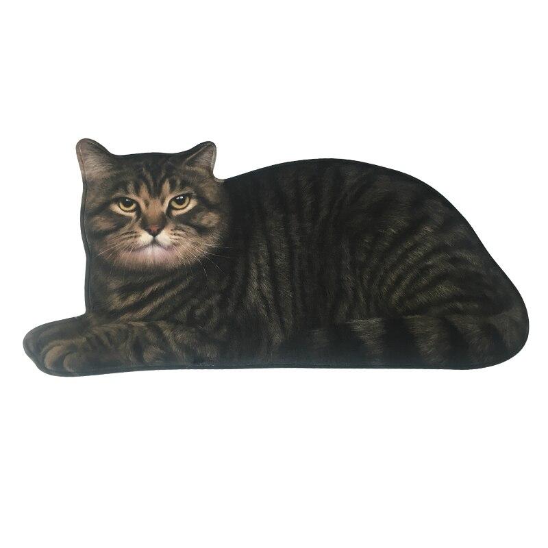 Alfombra de gato negro y amarillo en 3D de paisota, alfombra decorativa y adorable para dormitorio, baño y sala de estar