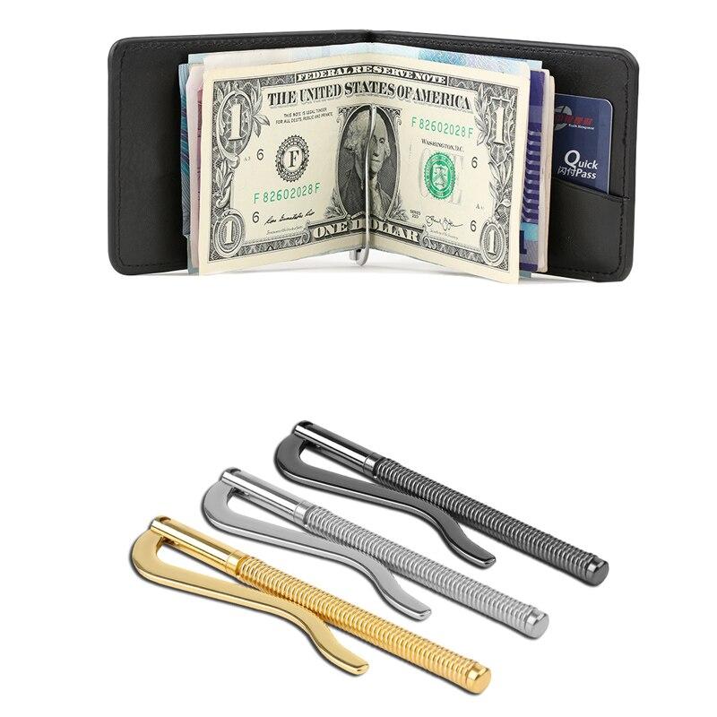 1Pc de moda gran oferta de acero inoxidable de primavera Clip para dinero, de piel tarjeta artesanal cartera reemplazar piezas efectivo titular abrazadera Bifold