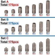 Набор винтов из нержавеющей стали, 175 шт., M3(3 мм) A2