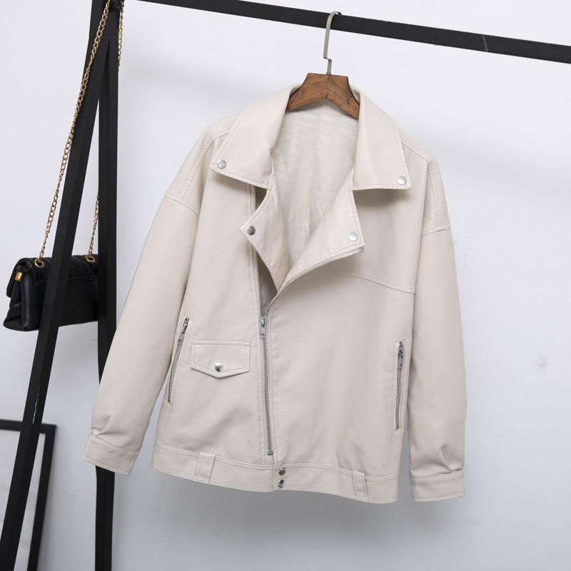 Женская байкерская куртка Guilantu, Повседневная Свободная куртка из искусственной кожи в стиле панк, большие размеры