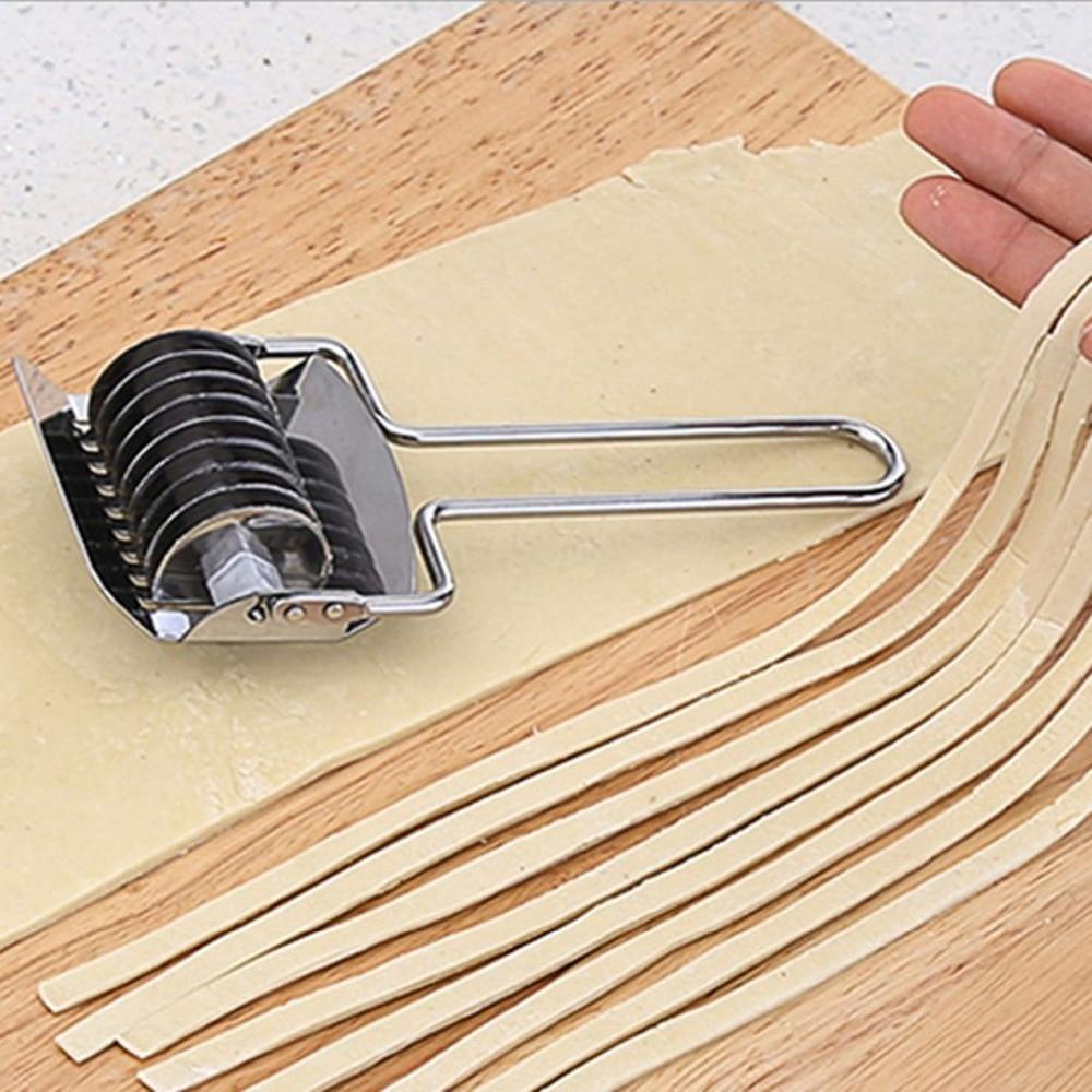 Rodillo de celosía para Fideos, cortador de masa, máquina de espagueti, cortador de Pasta, vegetales, utensilios de cocina de acero inoxidable