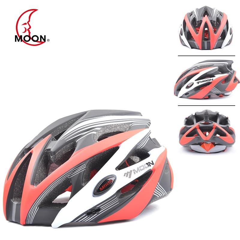 Luna casco de ciclismo ultraligero ligero casco transpirable en molde de alta calidad 25 rejillas de aire bicicleta de seguridad casco de bicicleta de protección