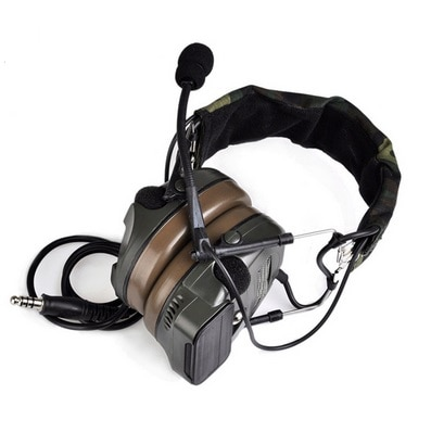 Pickup noise elimination headset action hunting tactics headset army green enlarge