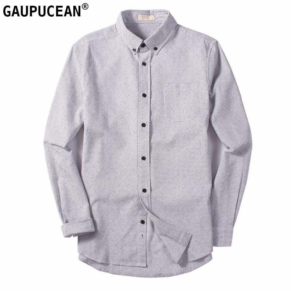 Männer Langarm Shirt 100% Baumwolle GROßE Größe Sommer Anti-statische Blau Grau Rot Plaid Casual Straße Überprüft Männlichen qualität Mann Shirts