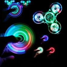 Luminoso LED light Fidget Spinner Hand Top Spinner Glow in Dark Light EDC Figet Spiner Finger antistress giocattoli