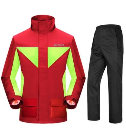 Fashion Super Waterproof Rain Suit Motorcycle Hooded Raincoat para moto impermeable motociclista Rain Coat motocicleta jaquetas enlarge